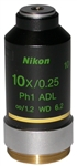 nikon phase contrast 10x adl objective lens